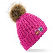 Drop Kick Bobble Hat - Fuchsia